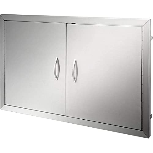 Buy Mophorn Bbq Access Door 36w X 21h Inch Double Bbq Door Stainless Steel Outdoor Kitchen Doors For Bbq Island Grill Station Outside Cabinet Online In Uk B07nrvp5h9