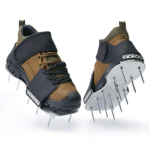 Lawn Aerator Shoes with Self-Tightening Straps 100% Fully ...