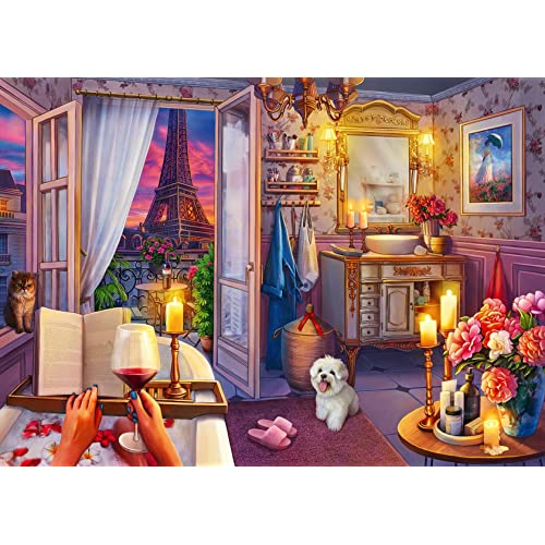 500 PC Puzzles Large Format for Adults Ravensburger 16789 Cozy Bathroom Softclick Technology Means Pieces Fit Together Perfectly Every Piece is Unique