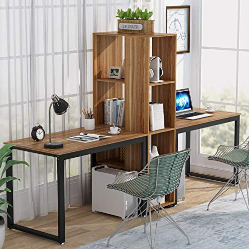 Two Person Computer Desk With, Double Desk Home Office Uk